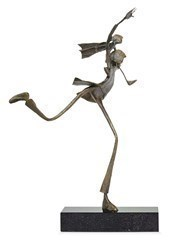 Stepping Out by Ed Rust - Bronze Sculpture sized 13x17 inches. Available from Whitewall Galleries